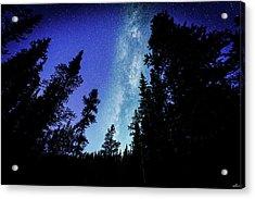 Milky Way Among The Trees Acrylic Print