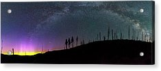 Acrylic Print featuring the photograph Milky Way And Aurora Borealis by Cat Connor