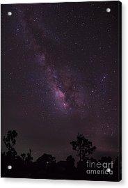 Milky Way And Galaxy. Acrylic Print by Tosporn Preede