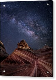 Milky Way And The Wave Acrylic Print