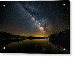 Milky Way At Hunter Cover Acrylic Print