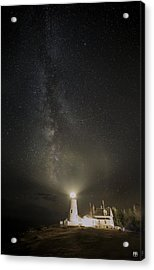 Milky Way At Pemaquid Light Acrylic Print