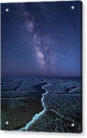 Milky Way At The Salt Flats Acrylic Print
