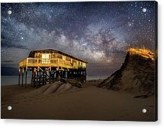 Milky Way Beach House Acrylic Print