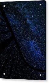 Milky Way Fence Acrylic Print by Pelo Blanco Photo
