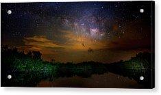 Milky Way Fire Acrylic Print