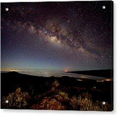 Milky Way From Mauna Kea Acrylic Print