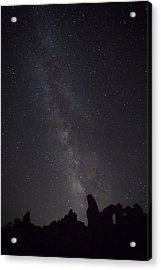 Milky Way Galaxy At Arches National Park Acrylic Print