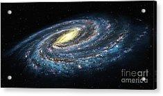 Milky Way Galaxy Oblique Acrylic Print by Lynette Cook