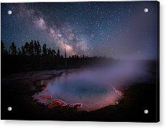 Milky Way In Yellowstone Acrylic Print