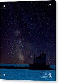Milky Way Lighthouse Acrylic Print