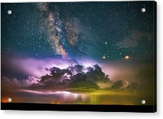 Milky Way Monsoon Acrylic Print