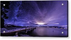 Milky Way Mountains Acrylic Print by Brad Scott