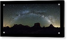 Milky Way Over Bell Acrylic Print by Tom Kelly