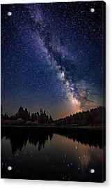 Milky Way Over The Deschutes River Acrylic Print