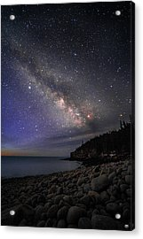 Milky Way Over Boulder Beach Acrylic Print