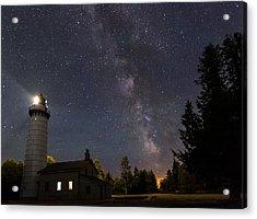Milky Way Over Cana Island Lighthouse Acrylic Print