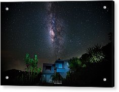 Milky Way Over Casa Angular  Acrylic Print by Karl Alexander