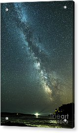 Milky Way Over Clams Flats Acrylic Print