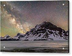 Milky Way Over Crowfoot Mountain Acrylic Print