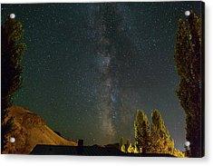 Milky Way Over Farmland In Central Oregon Acrylic Print