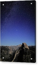 Milky Way Over Half Dome Acrylic Print