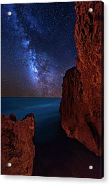 Milky Way Over Huchinson Island Beach Florida Acrylic Print