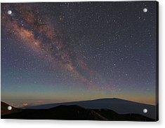 Milky Way Over Mauna Loa Acrylic Print