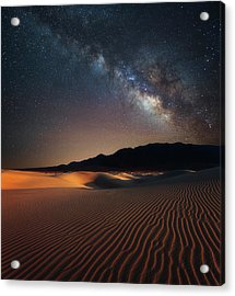 Milky Way Over Mesquite Dunes Acrylic Print by Darren White