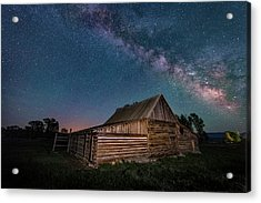 Milky Way Over Moulton Barn Acrylic Print