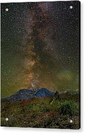 Milky Way Over Mount St Helens Acrylic Print