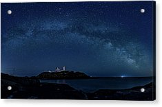 Milky Way Over Nubble Acrylic Print