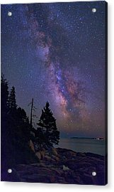 Milky Way Over Otter Point Acrylic Print