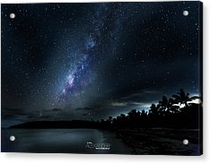 Milky Way Over Playa Navio Acrylic Print by Karl Alexander