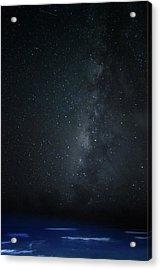 Milky Way Over Poipu Beach Acrylic Print