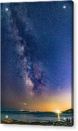 Milky Way Over Portland Head Acrylic Print