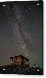Milky Way Over Rhoscolyn Nci Station. Acrylic Print by Andy Astbury