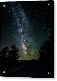 Acrylic Print featuring the photograph Milky Way Over Rocky Mountains by Gary Lengyel