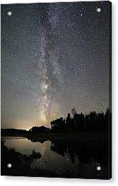 Milky Way Over Schwabacher's Landing Acrylic Print by Jean Clark