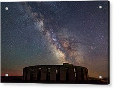 Acrylic Print featuring the photograph Milky Way Over Stonehendge by Cat Connor