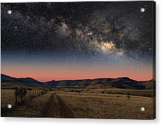 Milky Way Over Texas Acrylic Print