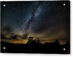 Milky Way Over The Blue Ridge Acrylic Print