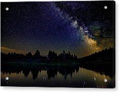 Milky Way Over The Deschutes River - 2 Acrylic Print