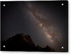 Milky Way Over Zion Acrylic Print