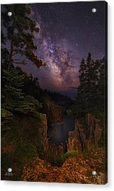 Milky Way Rising Over The Raven's Roost Acrylic Print