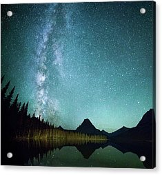 Milky Way // Two Medicine Lake, Glacier National Park Acrylic Print