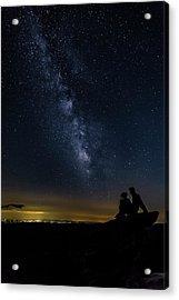 Milky Way Viewed From Rough Ridge Acrylic Print
