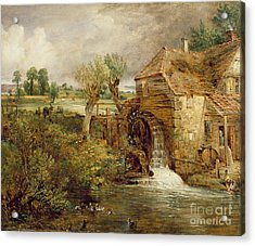 Mill At Gillingham - Dorset Acrylic Print by John Constable