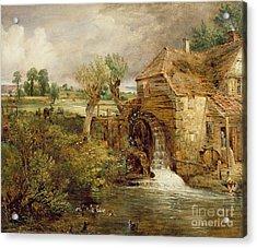 Mill At Gillingham - Dorset Acrylic Print by John Constable