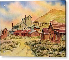 Mill Bodie Ghost Town California Acrylic Print by Kevin Heaney